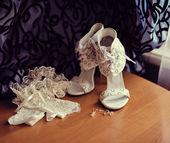 Hochzeit schuhe — Stockfoto