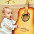 Small musician — Stock Photo