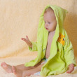 The child after bathing - Stock Photo