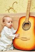 Small musician — Stock Photo