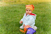 The child on a grass — Stock Photo