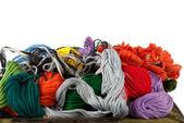 Borduurwerk floss — Stockfoto