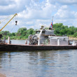 River work boat - Stock Photo