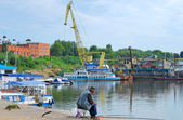 The river port — Stockfoto