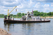 River work boat — Stock Photo