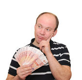A man with money — Stock Photo