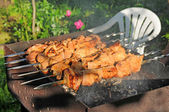 Kebab on the grill — Stock Photo