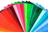 Color Swatch Fan Cutout — Stock Photo