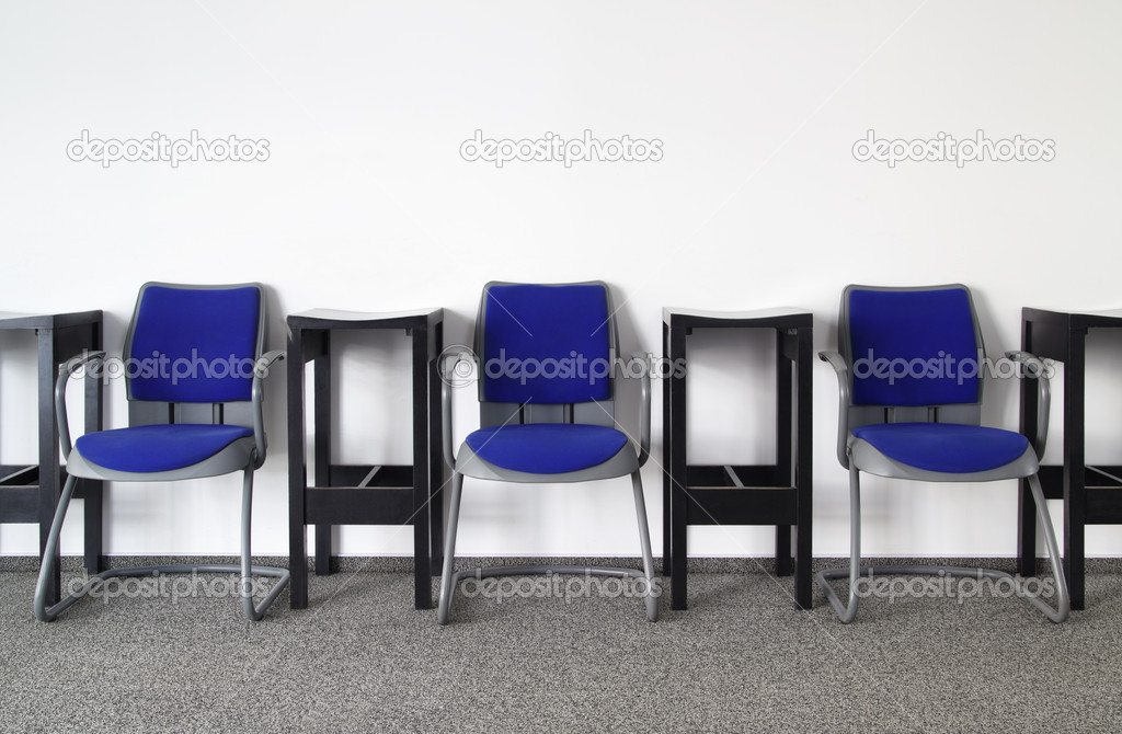 Chairs in Ordinary Empty Waiting Room — Stock Photo #10868521