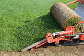 Grass Baling Machine — Stock Photo