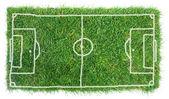 Campo de futebol de doodle — Foto Stock