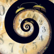 Stock Photo: Infinite Old Rusty Clock
