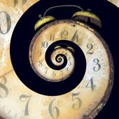 Infinite Old Rusty Clock — Stock Photo