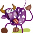 Purple cow — Stock Vector