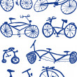 Bicycles — Stockvectorbeeld