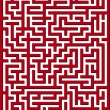 Red maze — Stock Vector #11499868