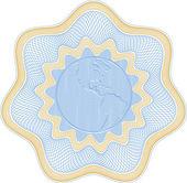 Embossed globe rosetta — Stock Vector