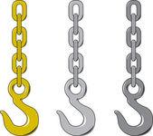 Chain hook — Stock Vector