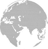 Dot Globe — Stock Vector
