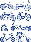 Bicycles — Stock Vector