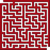 Labyrinthe carré — Vecteur