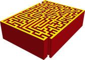 3D maze — Stock Vector