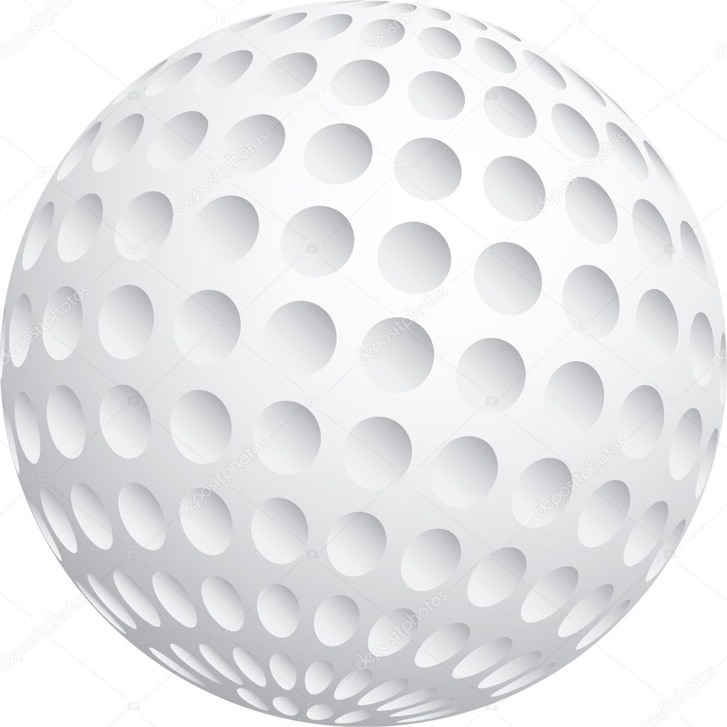 Vector illustration of golf ball — Stock Vector #11498307