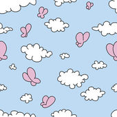 Nubes inconsútiles — Vector de stock