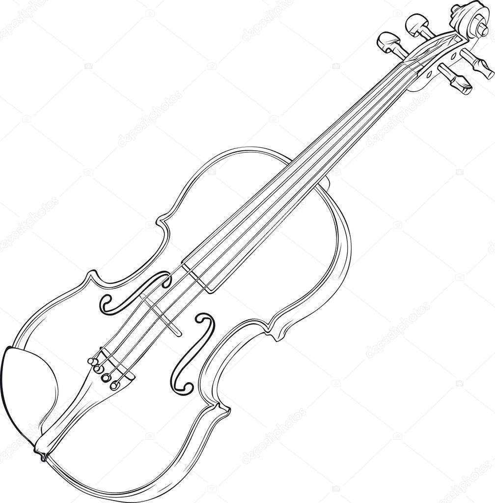 Dibujo de viol  ...V Is For Violin