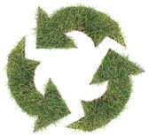 Recycling Symbol Cut Out — Stock Photo