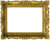 Gilded Golden Frame Cut Out — Stock Photo