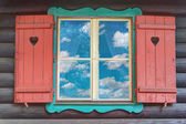 Wooden Chalet Window — Stock Photo