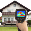Thermal Image of the House — Foto Stock