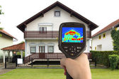 Thermal Image of the House — Stok fotoğraf