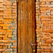 The Old door on brickwall — Stock Photo