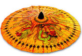 The Dragon Paper umbrella isolated on white background — Stock Photo