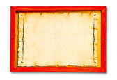 The Vintage of wooden frame on wood background — 图库照片