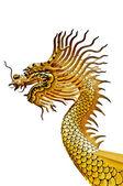 The Dragon status isolated on white background — Stock Photo