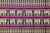 The Pattern of elephant on pillow thai style — Stock Photo