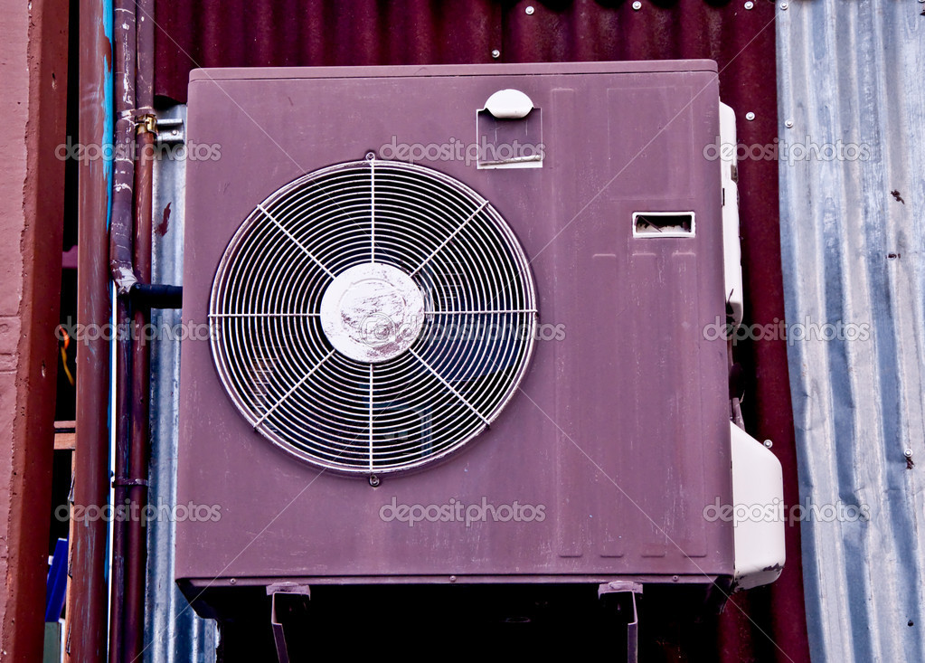 The Antique air conditioner — Stock Photo #10818347