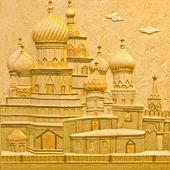 The Colorful ceramic of Taj Mahal on wall background — Stock Photo