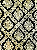 The Traditional Thai style art golden painting pattern on the wa — Stock Photo