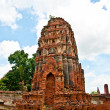 The Ruin of Buddha status and temple of wat mahathat  in ayuttha - Foto Stock