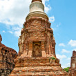 The Ruin of Buddha status and temple of wat mahathat in ayuttha — Stock Photo #10843062
