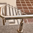 The Stainless steel of railing on staircase — Stock Photo