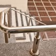 Royalty-Free Stock Photo: The Stainless steel of railing on staircase