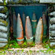 Royalty-Free Stock Photo: The Old rusted  ammunition of artillery