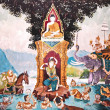 The Thai art of religion on wall of temple — Stock Photo