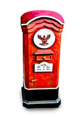 The Old thai postbox isolated on white background — Stock Photo