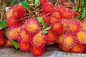 świeże jagodzian rambutan — Zdjęcie stockowe